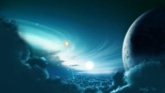 Outer space stars science fiction skies sci-fi wallpaper