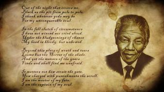 Paper nelson mandela invictus photomanipulation wallpaper