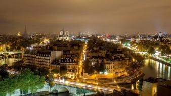 Paris cityscapes streets night cities wallpaper