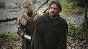 Shows nikolaj coster-waldau brienne tarth gwendoline christie wallpaper