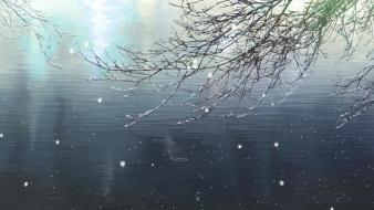 Snow makoto shinkai the garden of words wallpaper