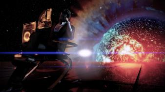 Space mass effect 2 the illusive man wallpaper