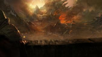 Sun fire sunlight artwork diablo iii game wallpaper