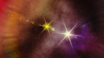 Sun outer space stars nebulae skies Wallpaper