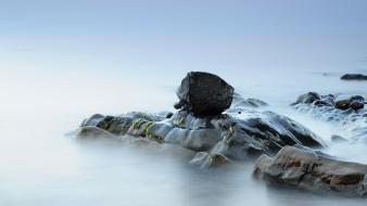 Surface fog moss block silence veil smooth wallpaper