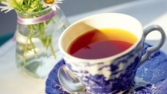 Tea coffee cups widescreen wallpaper