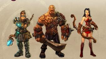 Team destroyer alchemist torchlight characters vanquisher wallpaper