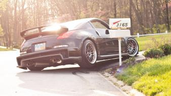 Tuning fairlady z33 350z rear angle view wallpaper