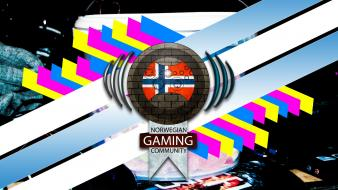 Video games norwegian norway flags gaming community culture wallpaper
