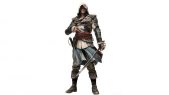 White background 4: black flag edward kenway wallpaper