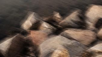 Abstract rocks stones digital art blurred wallpaper