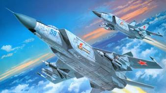 Aircraft military artwork skyscapes wallpaper