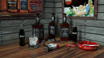 Art 3d marlboro jack daniels ice cubes Wallpaper