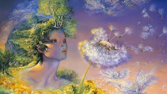 Art dreams time josephine wall mystical flies wallpaper