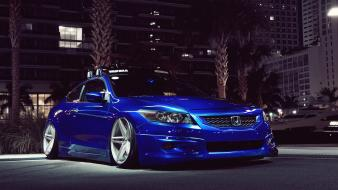 Blue streets night honda cars vehicles accord Wallpaper