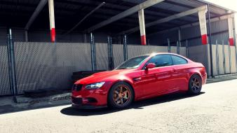 Bmw red cars roads vehicles m3 e92 Wallpaper