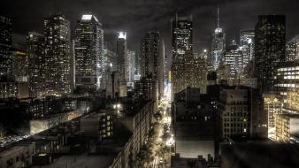 Cityscapes night lights new york city cities wallpaper