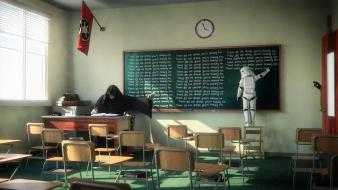 Death classroom blackboards artwork chalk storm trooper wallpaper