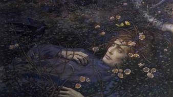 Death men classic art edward robert hughes wallpaper