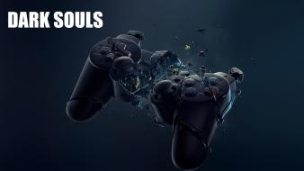 Destruction playstation destroyed joysticks dark souls game wallpaper