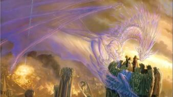 Dragons fantasy art todd lockwood wallpaper