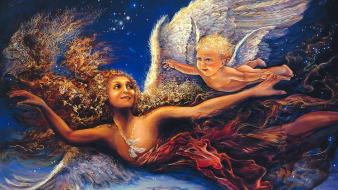 Fantasy paintings art dreams flight josephine wall mystical wallpaper