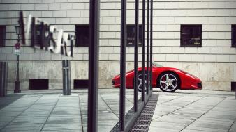 Ferrari vehicles 458 italia reflections versace cities wallpaper