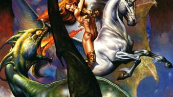 Green dragons boris vallejo wallpaper