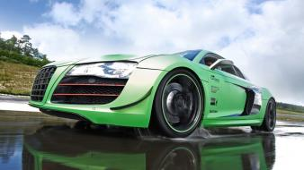 Green germany audi r8 sports cars races speed Wallpaper