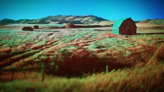 Infrared barn photography shed natural scenery ir wallpaper