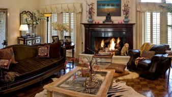 Interior fireplaces wallpaper
