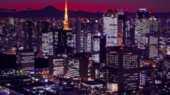 Japan tokyo cityscapes night lights cities skyline wallpaper