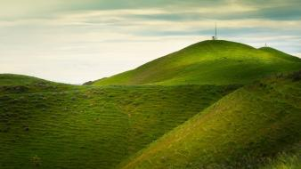 Landscapes hills new zealand wallpaper