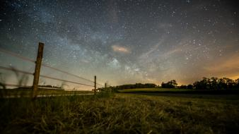 Landscapes night stars milky way skies low light wallpaper