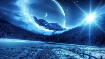 Landscapes outer space planets wallpaper