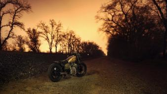Landscapes vehicles motorbikes rear angle view bobber wallpaper