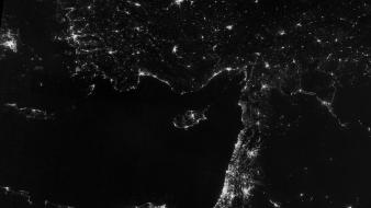 Lights earth nasa egypt rivers night vision wallpaper