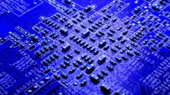 Macro circuit boards wallpaper