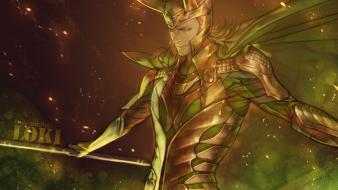 Marvel comics loki laufeyson sceptres wallpaper
