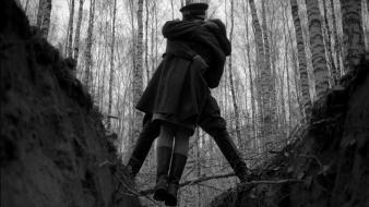 Movies grayscale andrei tarkovsky ivans childhood forest Wallpaper