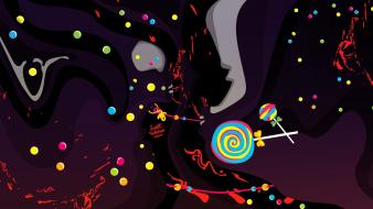 Multicolor digital art candies creative wallpaper