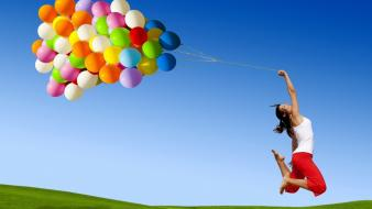 Nature balloons wallpaper