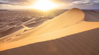 Nature sun desert sands wallpaper