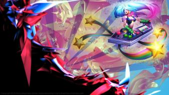 Of legends arcade sona game characters lol wallpaper