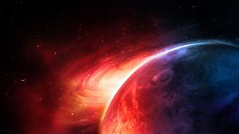 Outer space stars planets science fiction spirals sci-fi wallpaper