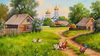 Paintings artwork rural Wallpaper