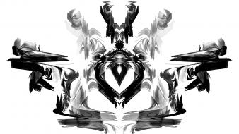 Rorschach pulse apophysis test symmetric fractal inkblot wallpaper