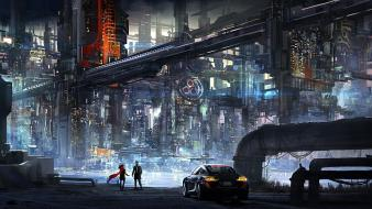 Science fiction artwork agent meet wallpaper