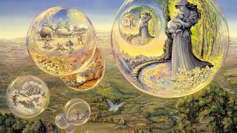 Seasons bubbles art dreams josephine wall mystical wallpaper