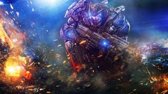 Soldiers futuristic weapons armor artwork marine wallpaper